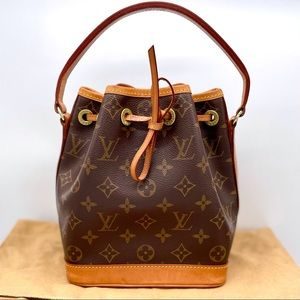 Vtg  Louis Vuitton Neo Noe tea cup dog bag